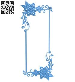 Picture frame or mirror A004407 download free stl files 3d model for CNC wood carving