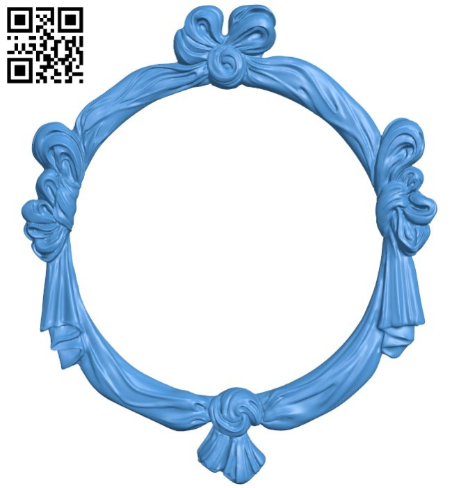 Picture frame or mirror A004408 download free stl files 3d model for CNC wood carving