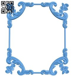 Picture frame or mirror A004417 download free stl files 3d model for CNC wood carving