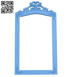 Picture frame or mirror A004437 download free stl files 3d model for CNC wood carving