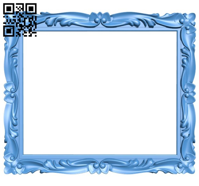 Picture frame or mirror A004445 download free stl files 3d model for CNC wood carving