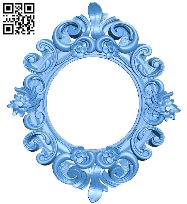 Picture frame or mirror A004446 download free stl files 3d model for CNC wood carving