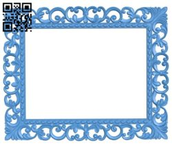 Picture frame or mirror A004447 download free stl files 3d model for CNC wood carving