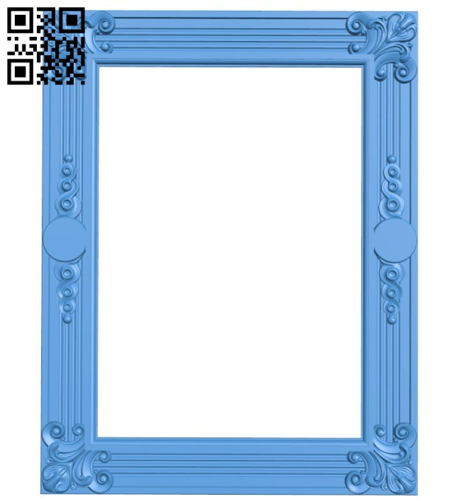 Picture frame or mirror A004499 download free stl files 3d model for CNC wood carving