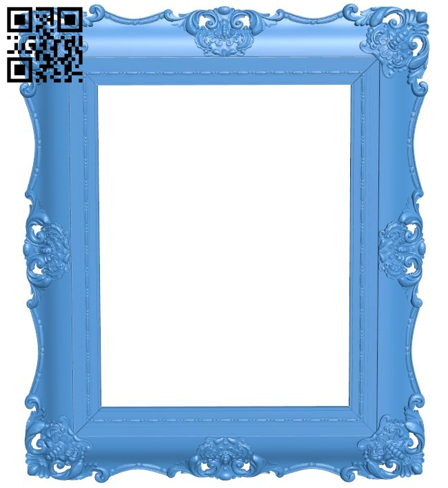 Picture frame or mirror A004529 download free stl files 3d model for CNC wood carving