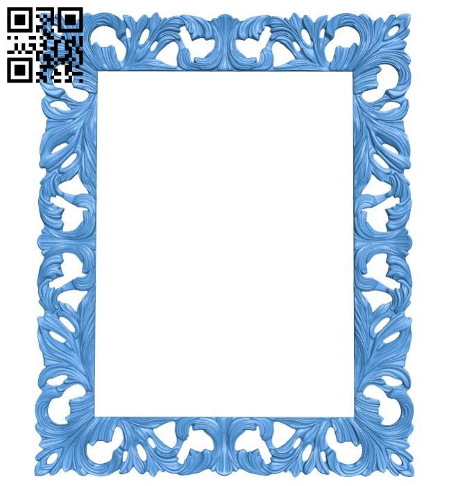 Picture frame or mirror A004532 download free stl files 3d model for CNC wood carving