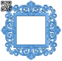 Picture frame or mirror A004548 download free stl files 3d model for CNC wood carving