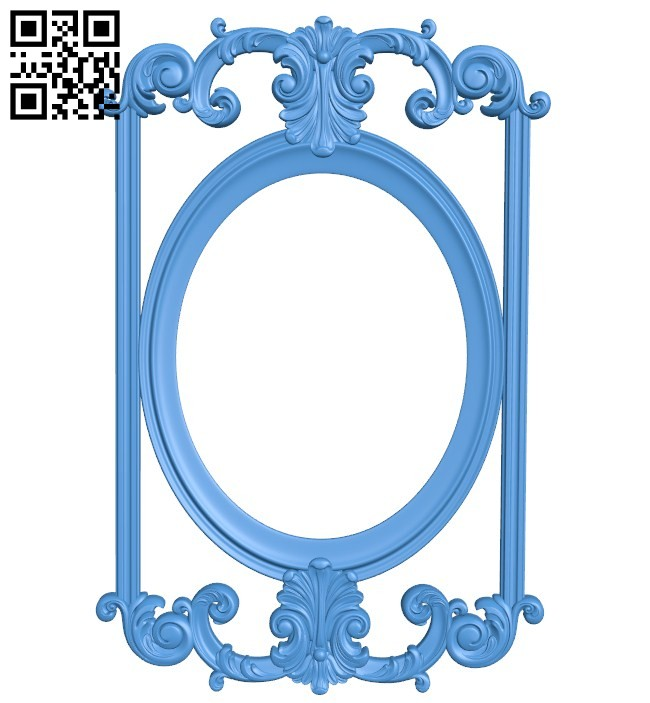 Picture frame or mirror A004568 download free stl files 3d model for CNC wood carving