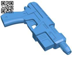 Poe Dameron Blaster Gun B006489 file stl free download 3D Model for CNC and 3d printer