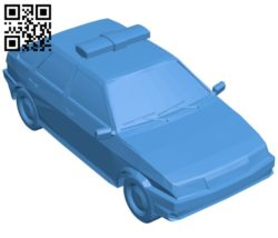 Police car B006425 file stl free download 3D Model for CNC and 3d printer