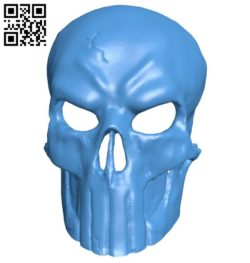 Punisher Mask B006475 file stl free download 3D Model for CNC and 3d printer