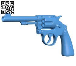 Realistic revolver gun B006481 file stl free download 3D Model for CNC and 3d printer