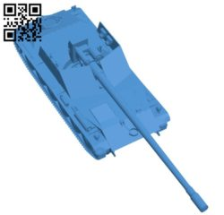 Rhm Borsig Tank B006521 file stl free download 3D Model for CNC and 3d printer