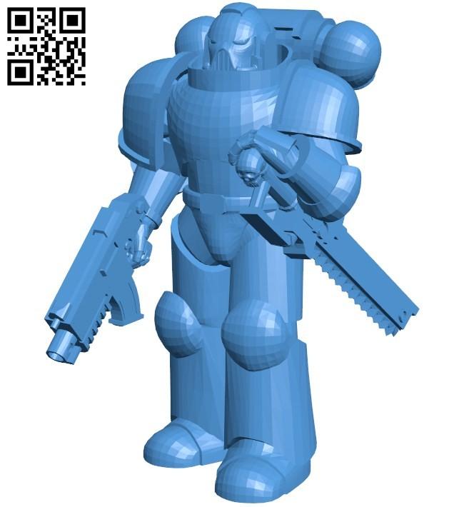 Robot final pose B006634 file stl free download 3D Model for CNC and 3d printer
