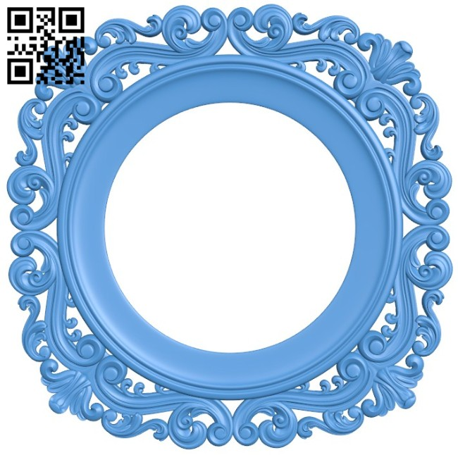 Round frame pattern A004521 download free stl files 3d model for CNC wood carving