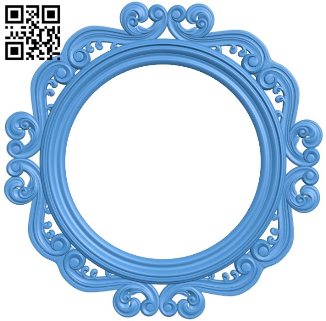 Round frame pattern A004522 download free stl files 3d model for CNC wood carving