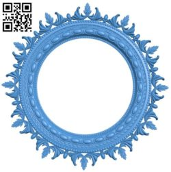 Round frame pattern A004530 download free stl files 3d model for CNC wood carving