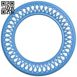 Round frame pattern A004531 download free stl files 3d model for CNC wood carving