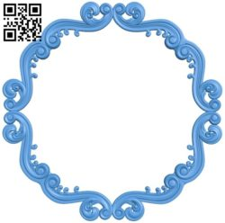 Round frame pattern A004546 download free stl files 3d model for CNC wood carving
