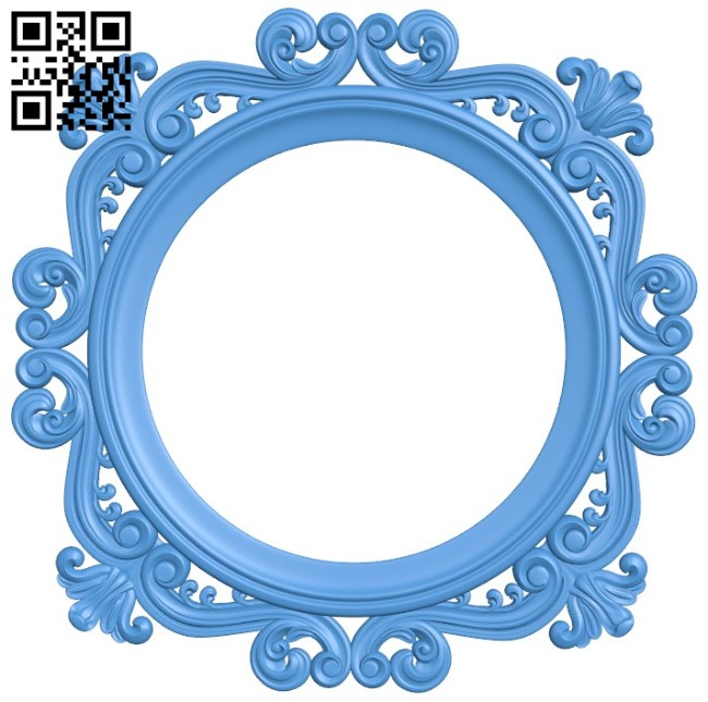 Round frame pattern A004551 download free stl files 3d model for CNC wood carving