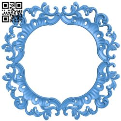 Round frame pattern A004564 download free stl files 3d model for CNC wood carving