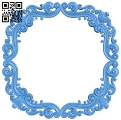 Round frame pattern A004565 download free stl files 3d model for CNC wood carving