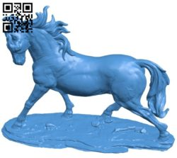 Running horse B006485 file stl free download 3D Model for CNC and 3d printer