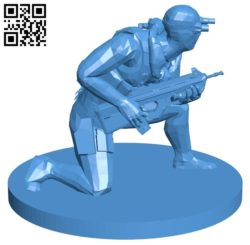 Sam Fisher man B006456 file stl free download 3D Model for CNC and 3d printer