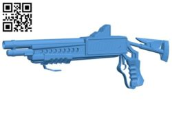 Sci-Fi Shotgun – gun B006587 file stl free download 3D Model for CNC and 3d printer