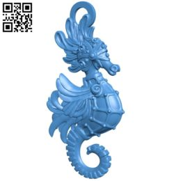 Sea horse pendant B006380 file stl free download 3D Model for CNC and 3d printer