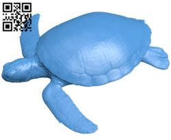 Sea turtle B006590 file stl free download 3D Model for CNC and 3d printer