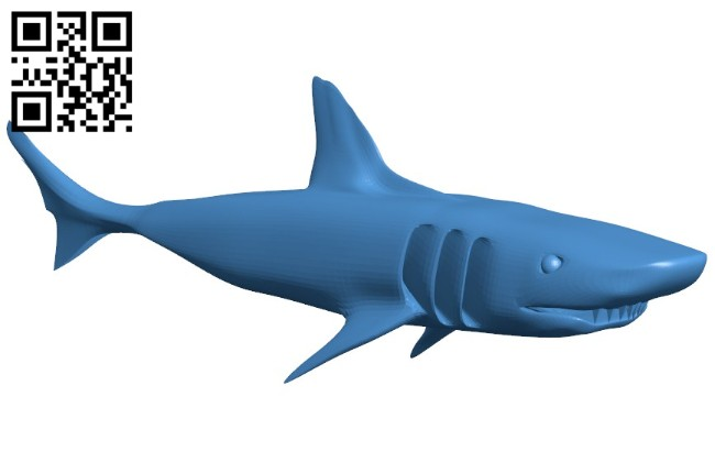 Shark - fish B006525 file stl free download 3D Model for CNC and 3d printer