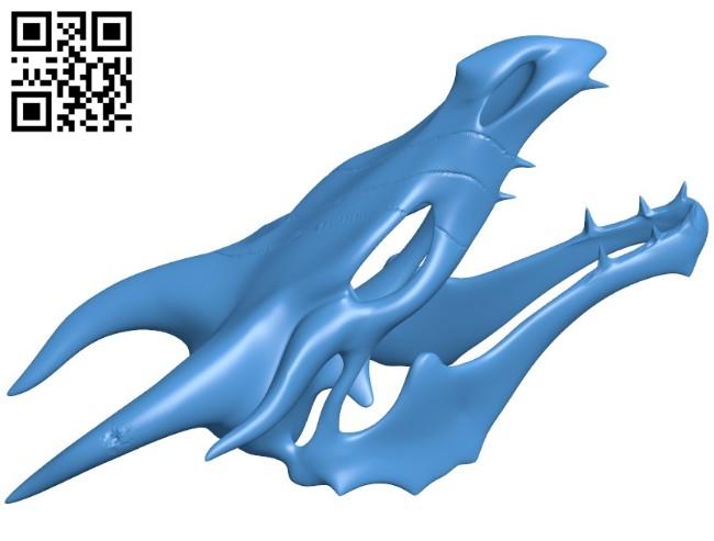 Skyrim Skull Dragon B006484 file stl free download 3D Model for CNC and 3d printer
