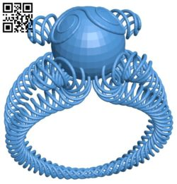Spring ring B006517 file stl free download 3D Model for CNC and 3d printer