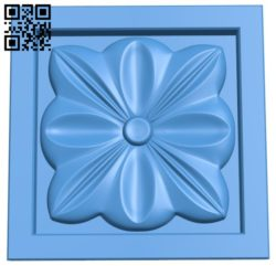 Square pattern A004492 download free stl files 3d model for CNC wood carving