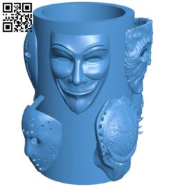 Stand with masks B006512 file stl free download 3D Model for CNC and 3d printer