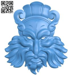 Strange face pattern A004488 download free stl files 3d model for CNC wood carving