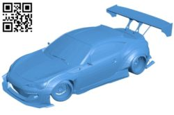 Subaru BRZ Car B006616 file stl free download 3D Model for CNC and 3d printer