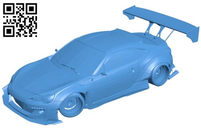 Subaru BRZ Car B006616 file stl free download 3D Model for CNC and 3d printer