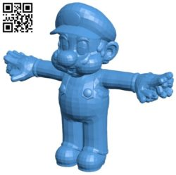 Super Mario B006605 file stl free download 3D Model for CNC and 3d printer