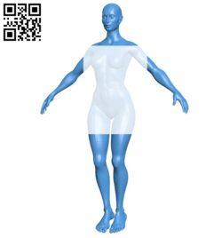 Superhero female B006516 file stl free download 3D Model for CNC and 3d printer