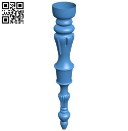 Table legs and chairs A004469 download free stl files 3d model for CNC wood carving