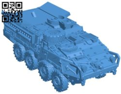 Tank M1128 Stryker B006452 file stl free download 3D Model for CNC and 3d printer