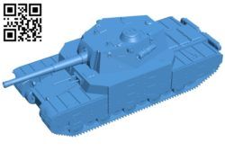 Tank Type 5 Heavy B006583 file stl free download 3D Model for CNC and 3d printer