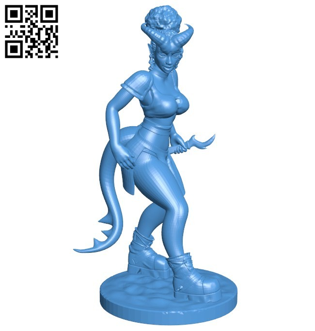 Tiefling revised - Devil B006631 file stl free download 3D Model for CNC and 3d printer