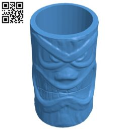 Tiki pot B006621 file stl free download 3D Model for CNC and 3d printer