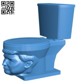 Toilet B006596 file stl free download 3D Model for CNC and 3d printer