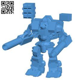 Tomahawk destroid B006504 file stl free download 3D Model for CNC and 3d printer