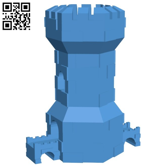 Tower - House B006611 file stl free download 3D Model for CNC and 3d printer