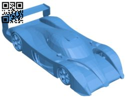 Toyota GT-One Car B006417 file stl free download 3D Model for CNC and 3d printer